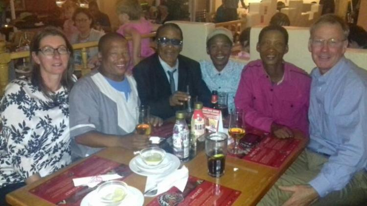 Some board members and advisors of the board enjoying a meal (Windhoek April 2017)